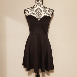 Love Culture Black Strapless Dress